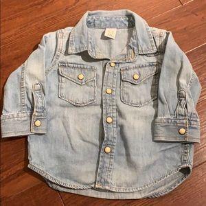Jean shirt 6-12months